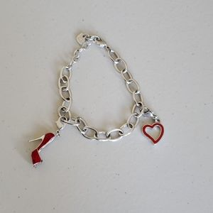 Swarovski Bracelet with 2 charms